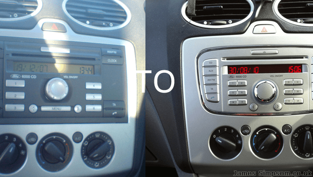 Ford Focus stereo radio fascia silver colour style 2005-2008