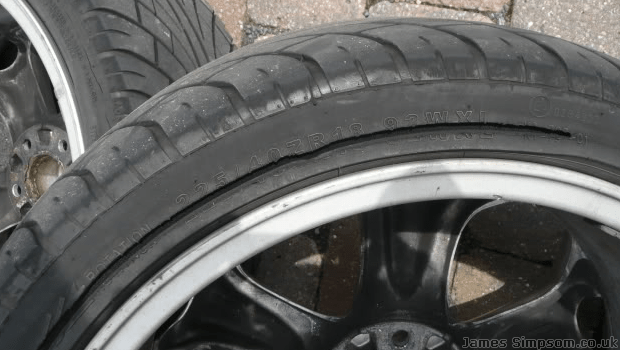 Kings Tyres Blowout - Cracked Inner Tyre Alloy Wheels