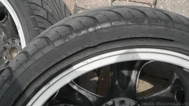 Kings Tyres Blowout - Cracked Inner Tyre Alloy Wheels