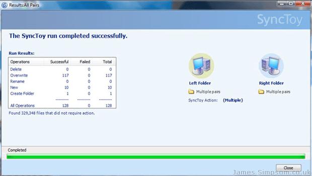 Microsoft SyncToy Backup Program