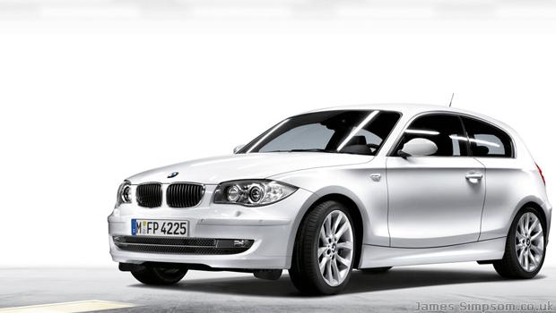 White BMW 1 Series Car - 3 Door Alloy Wheels