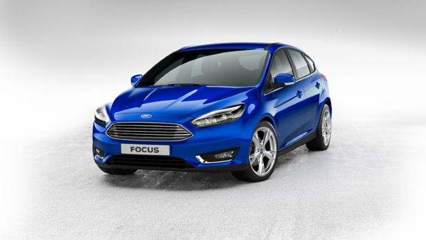 Blue Ford Focus MK3.5 Facelift