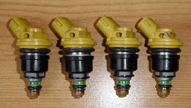 Subaru Impreza 550 Yellow Top Fuel Injectors