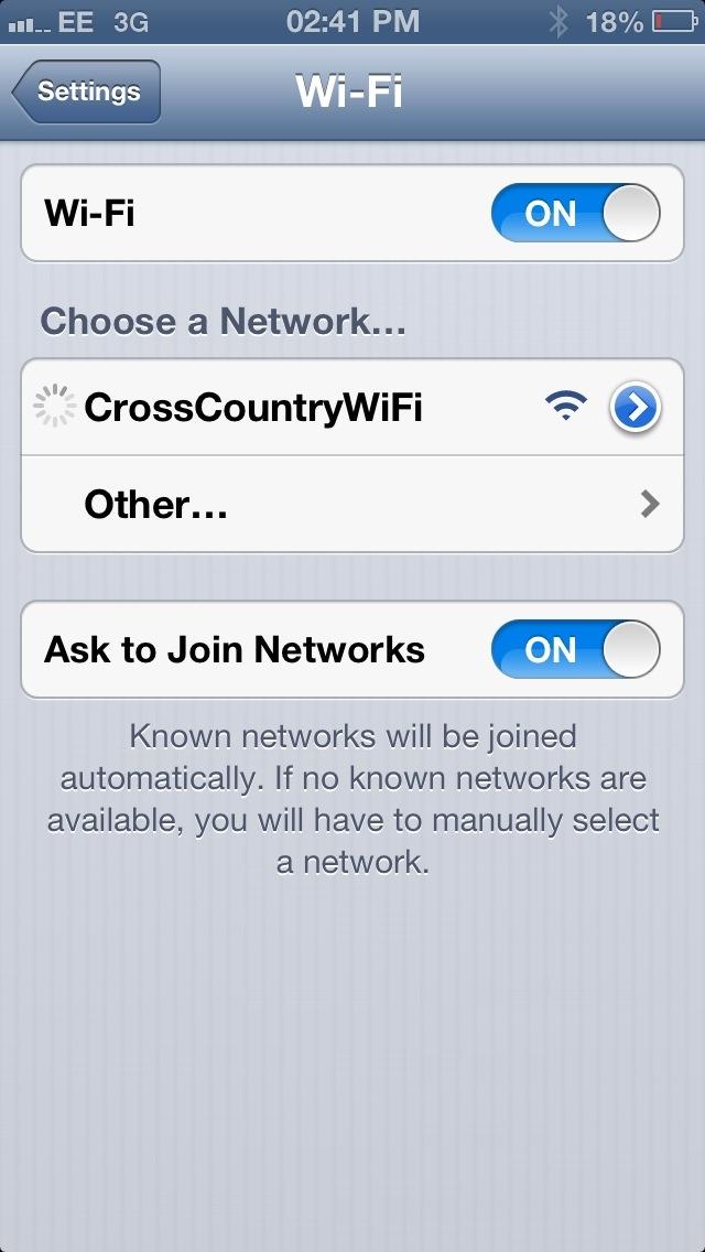 Cross Country Trains Wifi