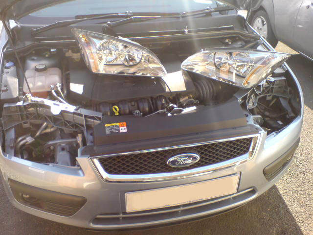 Ford Focus Headlights Removed