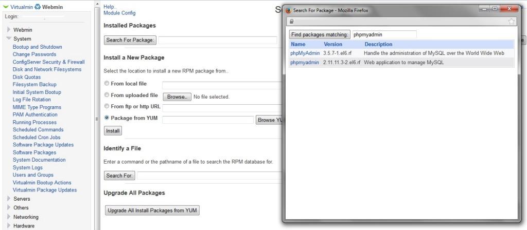 Virtualmin Install PHPMYADMIN in central location